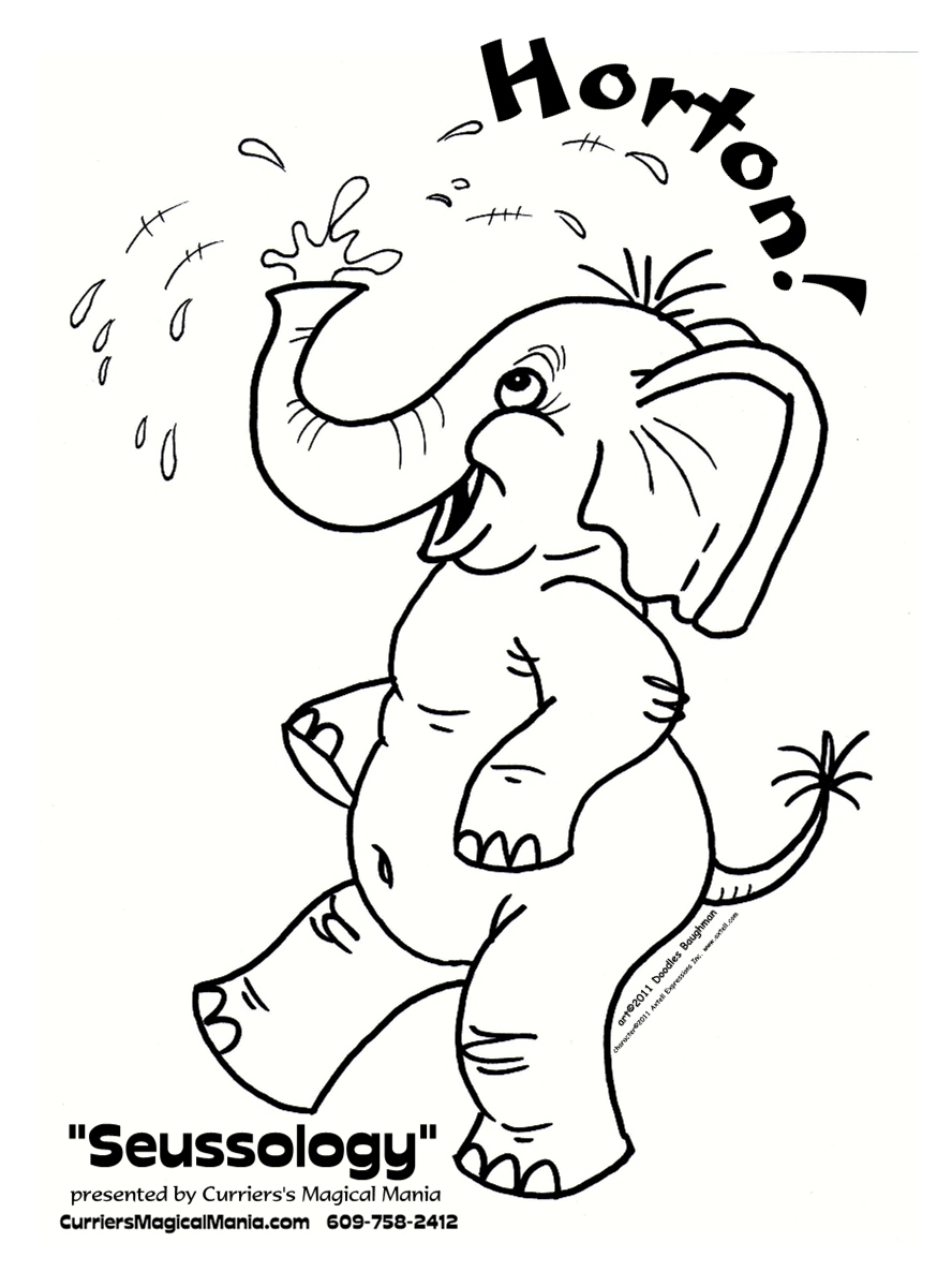 Horton - Free Colouring Pages